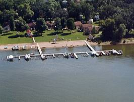 Arial view of Midway Beach Resort
